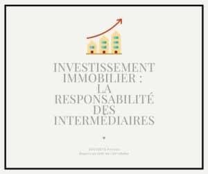 La responsabilité des intermédiaires en matière d'investissement locatif