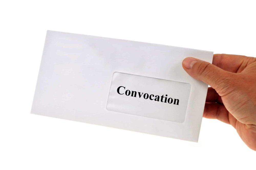La convocation à l'Assemblée générale de copropriété