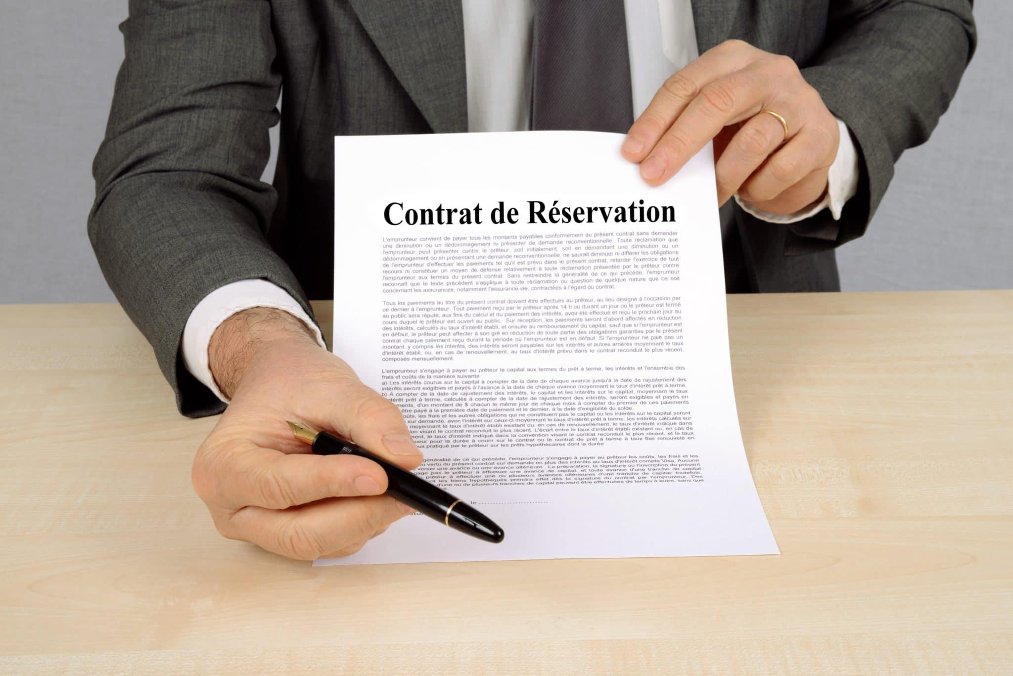 Tout savoir sur le contrat de réservation en VEFA